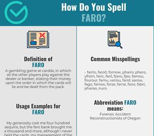 Correct spelling for faro
