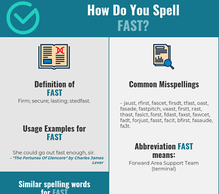 Correct spelling for fast