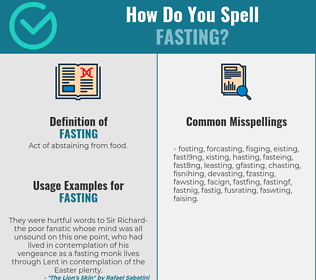 Correct spelling for fasting