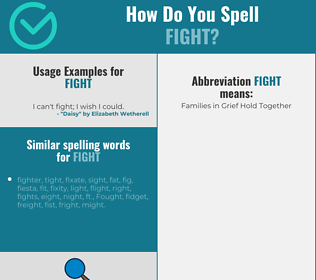 Correct spelling for fight