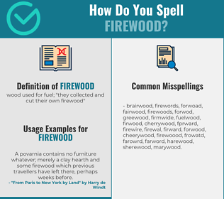 Correct spelling for firewood