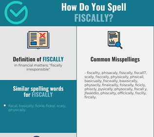 Correct spelling for fiscally