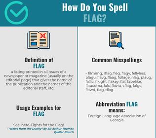 Correct spelling for flag