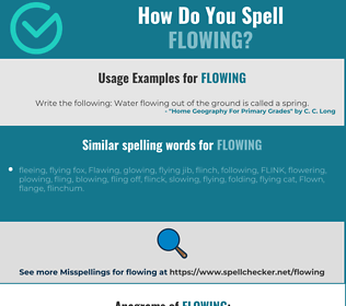 Correct spelling for flowing