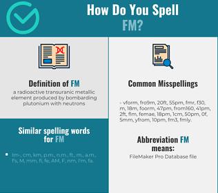 Correct spelling for fm