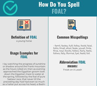 Correct spelling for foal