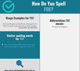 Correct spelling for foe