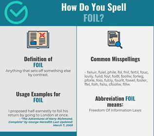 Correct spelling for foil