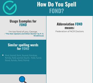 Correct spelling for fond