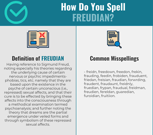 Correct spelling for freudian