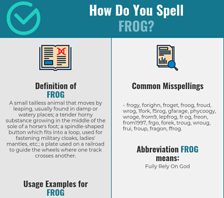 Correct spelling for frog
