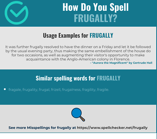 Correct spelling for frugally