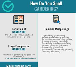 Correct spelling for gardening