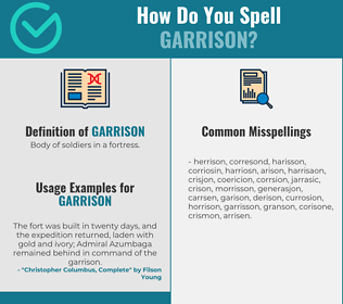 Correct spelling for garrison
