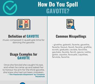 Correct spelling for gavotte