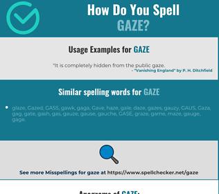 Correct spelling for gaze