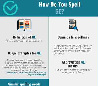 Correct spelling for ge