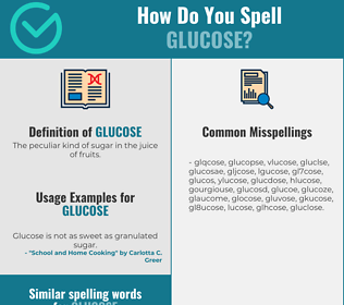 Correct spelling for glucose