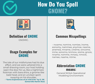 Correct spelling for gnome