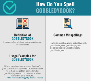 Correct spelling for gobbledygook