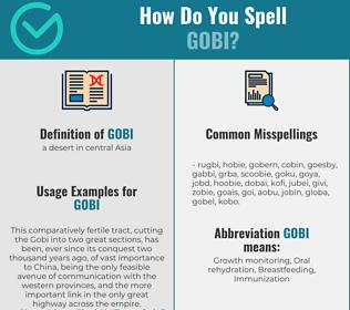 Correct spelling for gobi