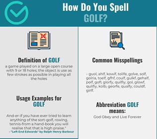 Correct spelling for golf