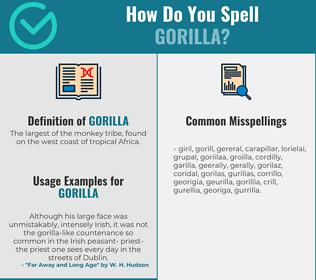 Correct spelling for gorilla