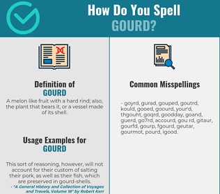 Correct spelling for gourd