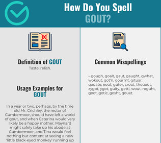 Correct spelling for gout