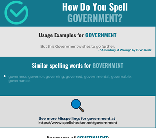 Correct spelling for government