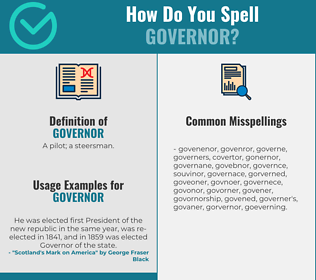 Correct spelling for governor