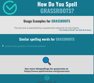 Correct spelling for grassroots