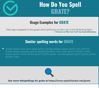 Correct spelling for grate