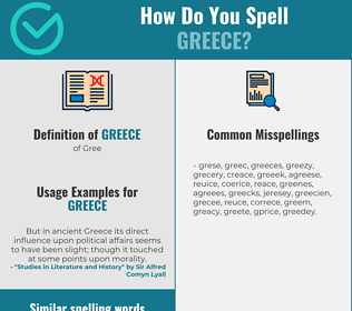 Correct spelling for greece