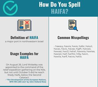 Correct spelling for haifa