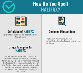 Correct spelling for halifax