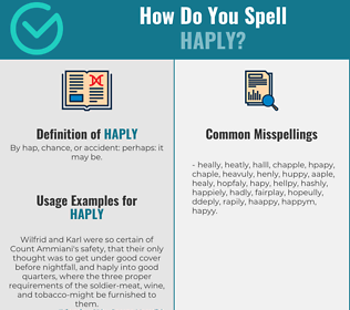 Correct spelling for haply