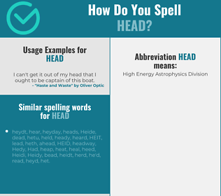 Correct spelling for head