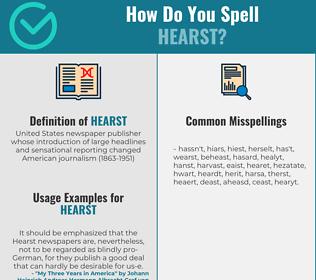 Correct spelling for hearst
