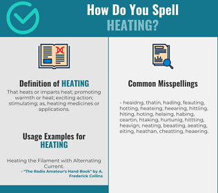 Correct spelling for heating