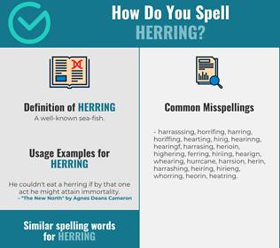 Correct spelling for herring