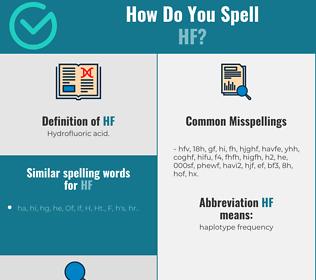 Correct spelling for hf