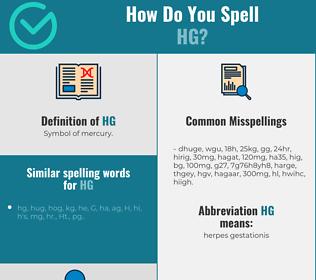 Correct spelling for hg