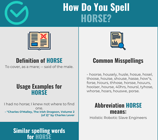 Correct spelling for horse