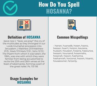 Correct spelling for hosanna