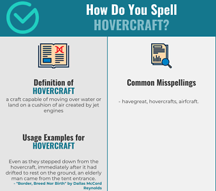 Correct spelling for hovercraft