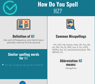 Correct spelling for hz