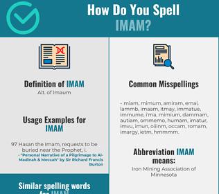 Correct spelling for imam