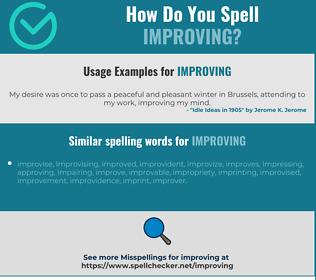 Correct spelling for improving