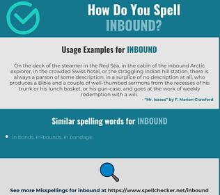 Correct spelling for inbound